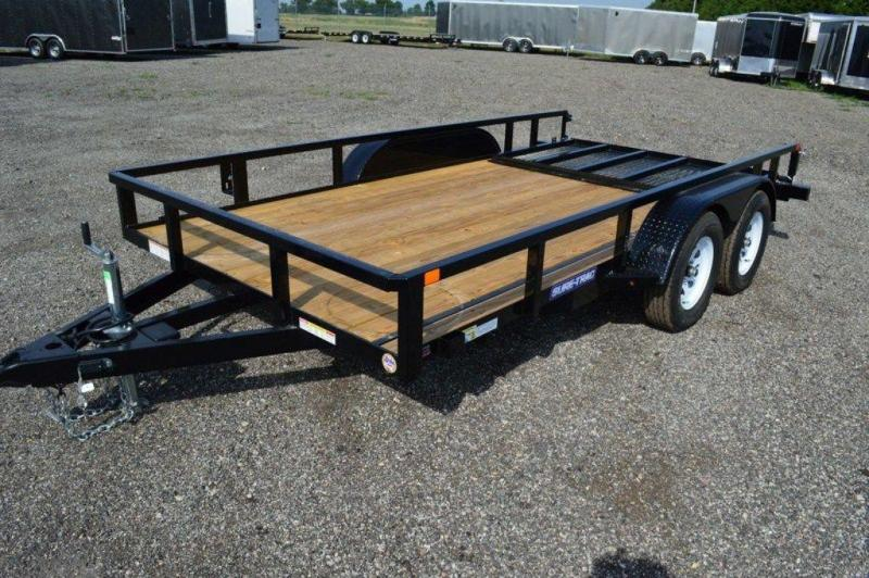 2019 Sure-Trac Tube Top 7 x 14 Tandem Axle Utility Trailer For Sale