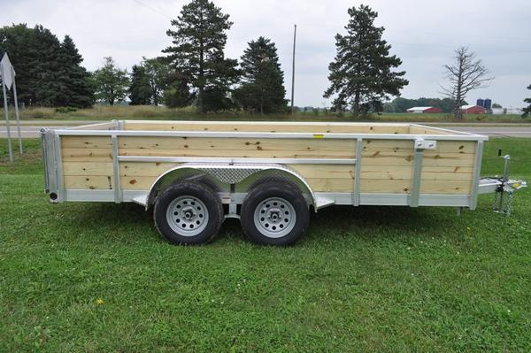 2020 Haul-it 7 x 14 All Aluminum 4 Board High Utility Trailer For Sale