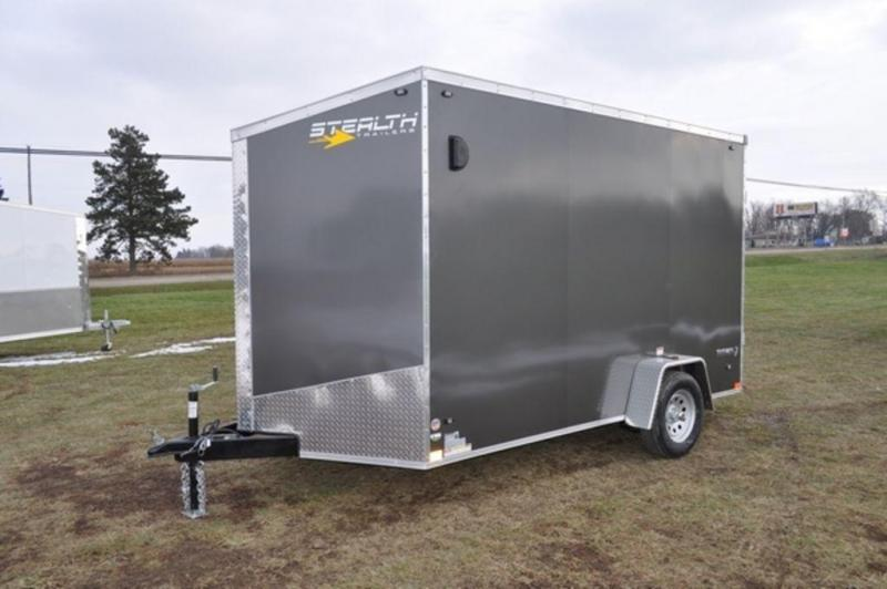 2019 Stealth 7 x 12 Cargo Trailer w/ 7' Interior and Brake on the Axle For Sale