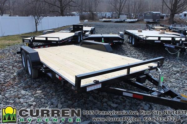 2019 SURE-TRAC 7x16 7k Wood Deck Car Trailer - ST8216CHW-B-070