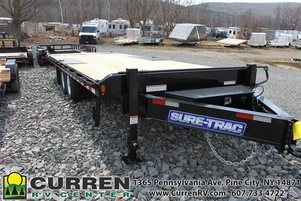 2019 SURE-TRAC 8.5x22 15k Deckover Power Tilt Equipment Trailer - ST10222DOT2A-B-150