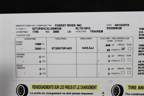 2020 Forest River Inc. ROCKWOOD 19FD Travel Trailer
