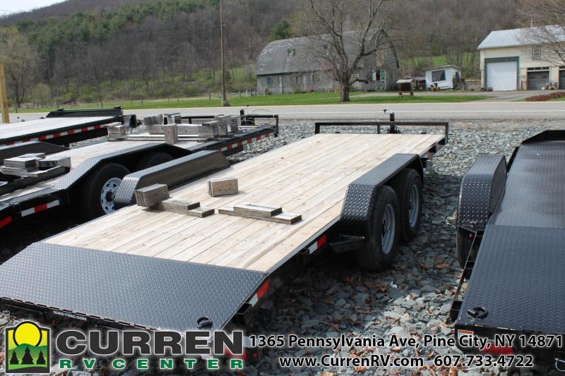 2020 SURE-TRAC 7x20 10k Wood Deck Car Trailer - ST8220CHW-B-100