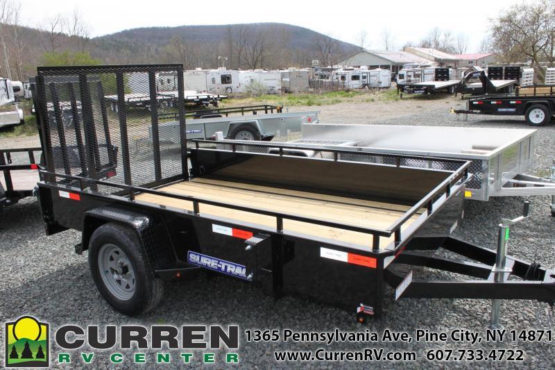 2020 SURE-TRAC 6x10 Steel Side Utility Trailer - ST7210HSA-B-030