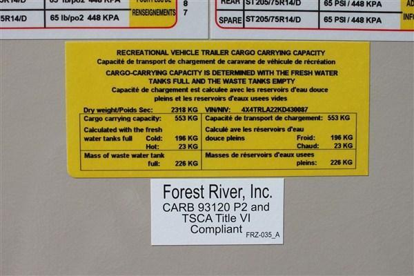 2019 Forest River Inc. ROCKWOOD 2509S Travel Trailer