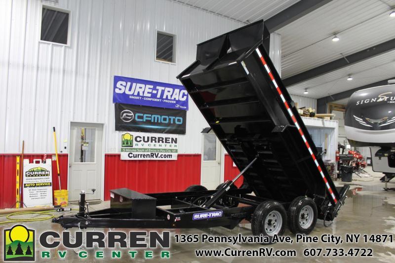 2020 SURE-TRAC 6x12 10k LP Dump Trailer with Ramps - ST7212D1R-B-100