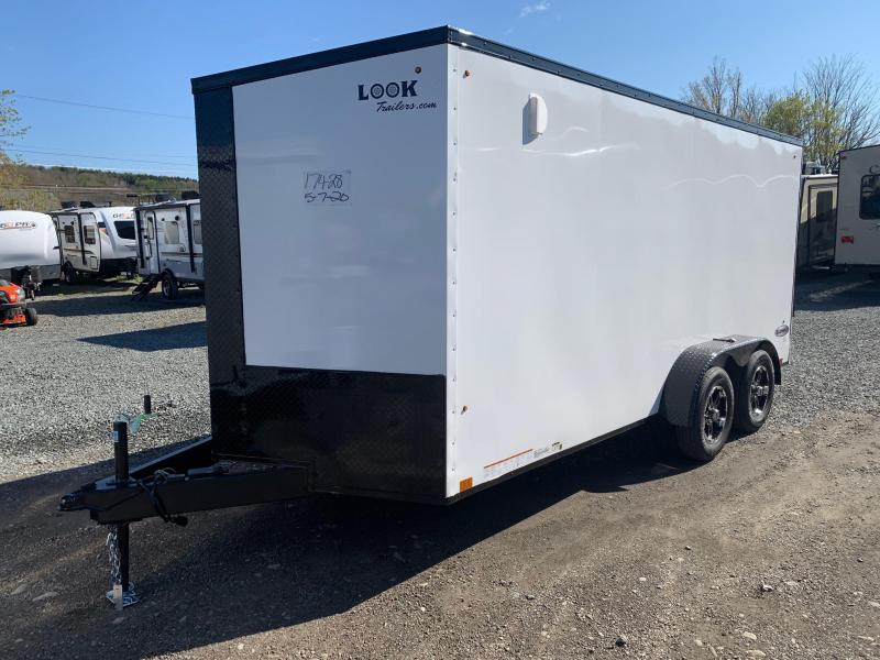 2021 Look Trailers LOOK Element SE 7x16 - White with Blackout Trim - Enclosed Cargo Trailer - EWLC7X16TE2SE