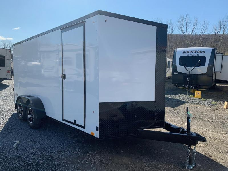 2021 Look Trailers LOOK Element SE 7x16 - White with Blackout Trim - Enclosed Cargo Trailer - EWLC7X16TE2SE