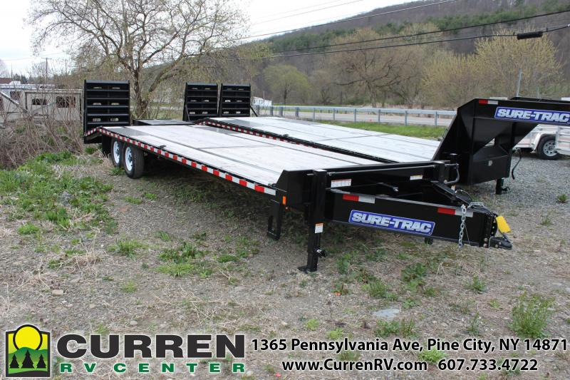 2019 SURE-TRAC 8.5x23+5 15k Beavertail Deckover Equipment Trailer