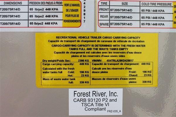 2019 Forest River Inc. ROCKWOOD 2512SB Travel Trailer