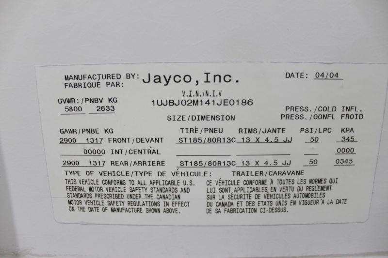 2004 JAYCO 25E EXP Travel Trailer