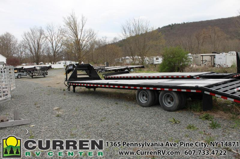2019 SURE-TRAC 8.5x27+5  22.5k Beavertail Gooseneck Equipment Trailer -  ST102275LPDO2A-GN-225