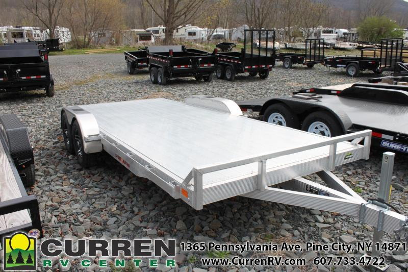 2019 SPORT HAVEN 7x18 7k Aluminum Deck Car Trailer - AOC1870TD