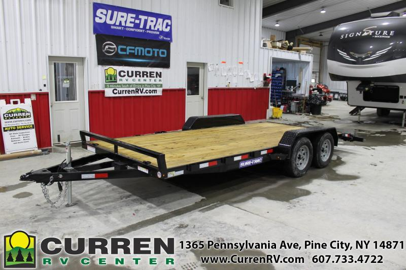 2020 SURE-TRAC 7x18 7k Wood Deck Car Hauler - ST8218CHW-B-070