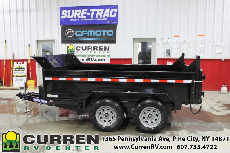2020 SURE-TRAC 6x10 7k LP Dump Trailer with Ramps - ST7210D1R-B-070