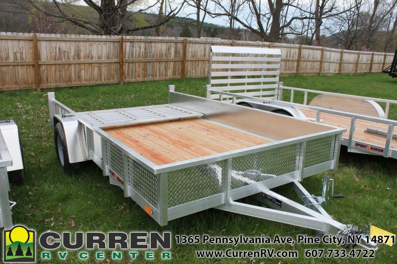 2020 SPORT HAVEN 7x12 Aluminum Utility Trailer with Diamond Plate Sides - AUT712S