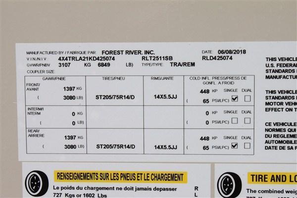 2019 Forest River Inc. ROCKWOOD 2511SB Travel Trailer