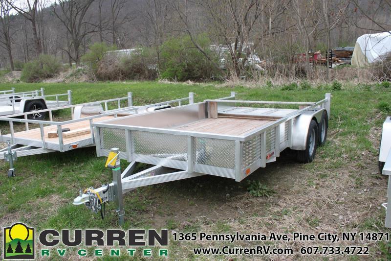 2020 SPORT HAVEN 7x14 7k Aluminum Utility Trailer with Diamond Plate Sides - AUT714TS