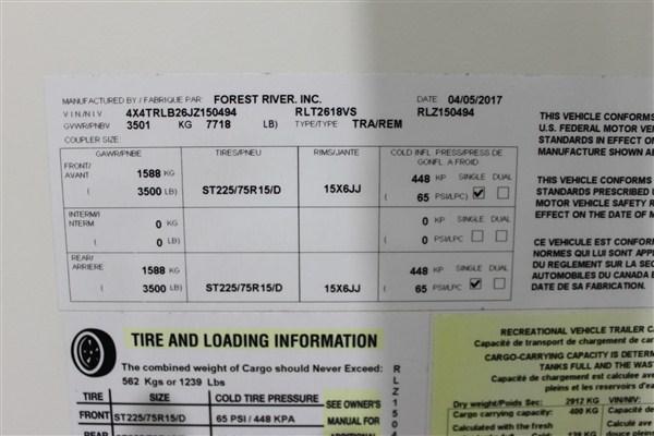 2018 Forest River Inc. ROCKWOOD 2618VS Travel Trailer
