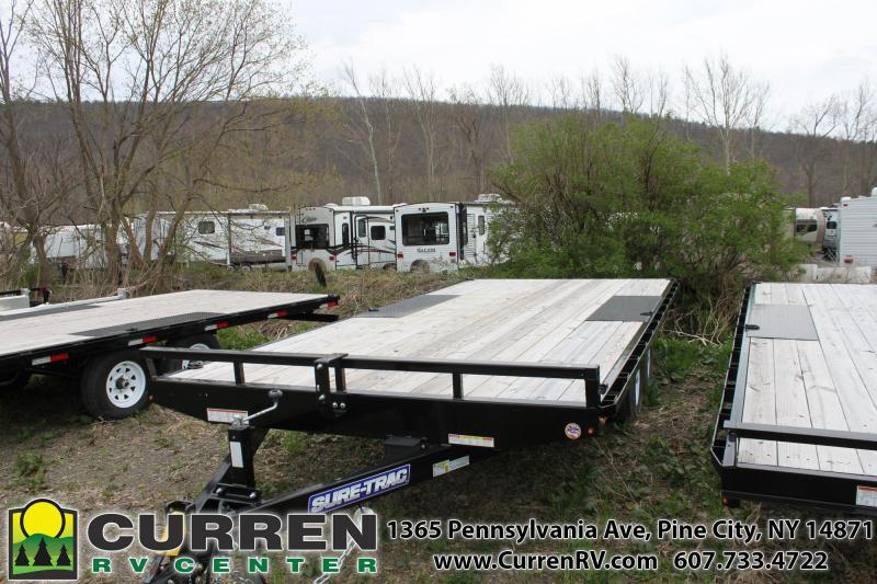 2019 SURE-TRAC 8.5x18 10k Deckover Equipment Trailer - ST10218TDO2A-B-100