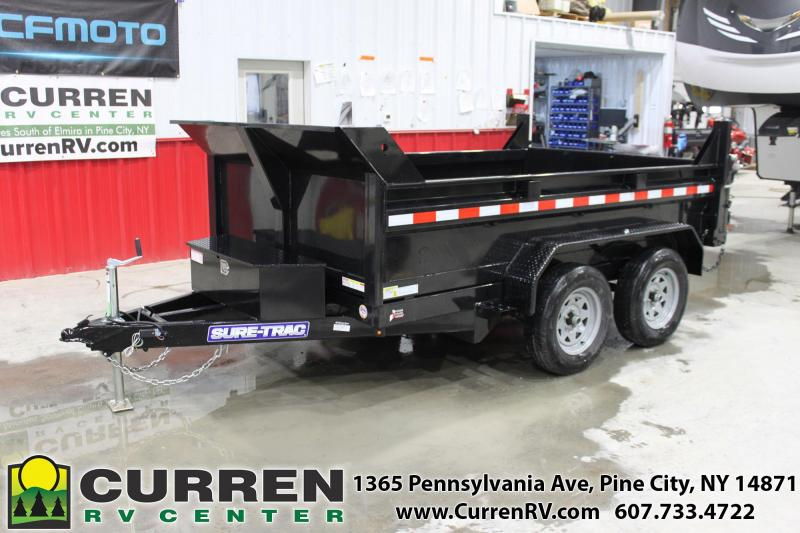 2020 SURE-TRAC 6x10 7k LP Dump Trailer with Combo Gate and Ramps - ST7210D1R-B-070