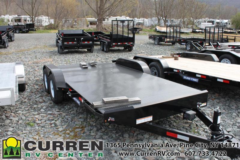 2019 SURE-TRAC 7x18 10k Steel Deck Car Trailer -  ST8218CHS-B-100