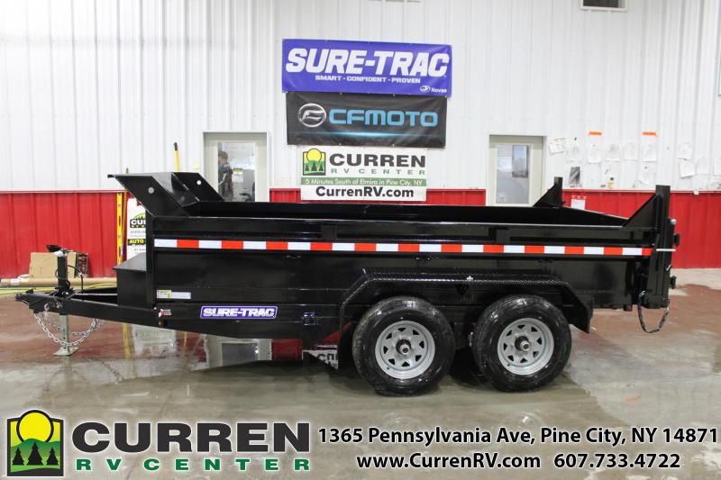 2020 SURE-TRAC 6x12 10k LP Dump Trailer with Ramps - ST7212D1R-B-100