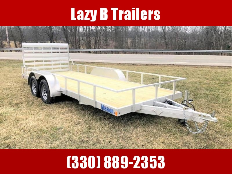 2020 Mission 18' Open Aluminum Utility Trailer