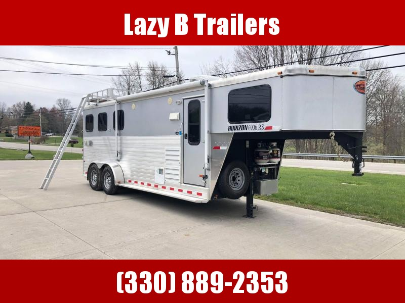 2013 Sundowner Trailers Horizon 3 Horse Living Quarters Horse Trailer