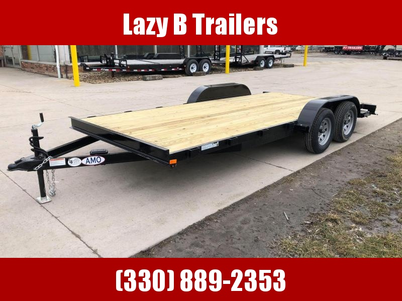 2020 American Manufacturing Operations (AMO) 18' Open Carhauler Car / Racing Trailer