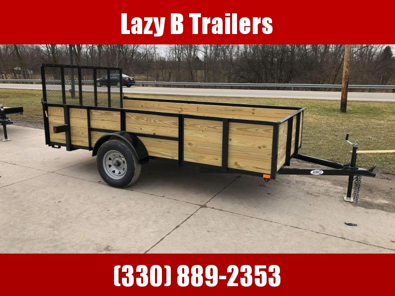 2020 American Manufacturing Operations (AMO) 6 x 12 Wooden Sides Utility Trailer