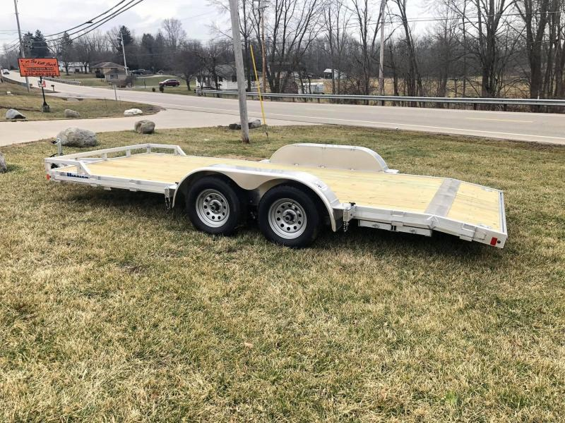 2020 Mission 18' Aluminum Open Carhauler Trailer