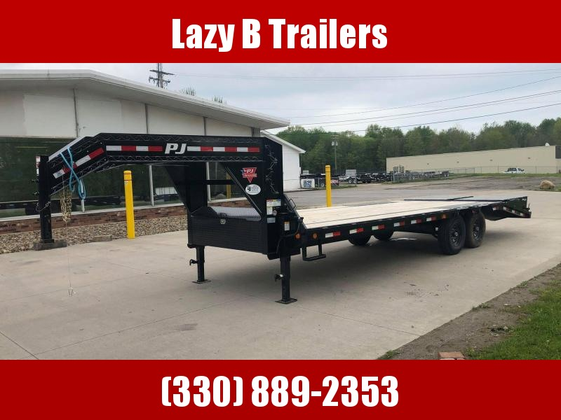 2020 PJ Trailers 25' Gooseneck LS Equipment Trailer