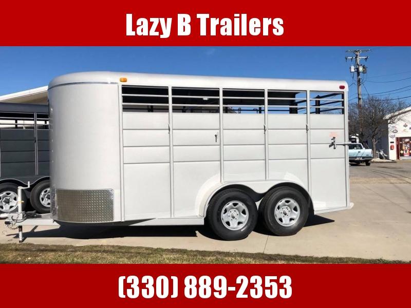 2020 Calico Trailers 16' Bumper Pull Stock Trailer Livestock Trailer