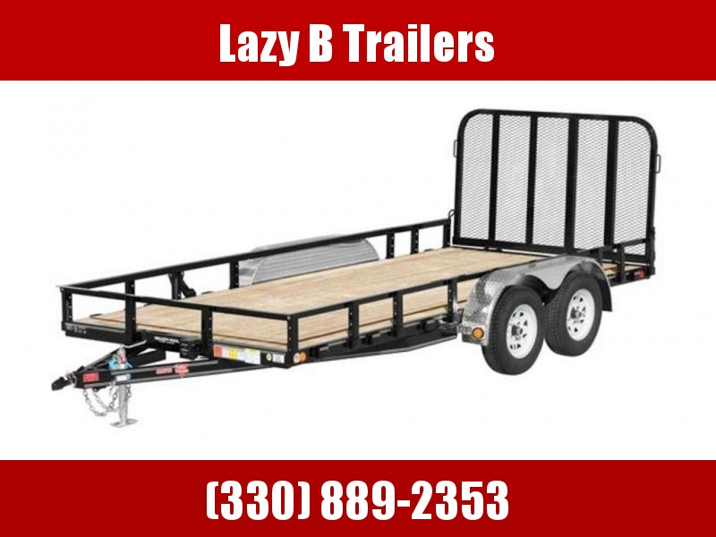 "2019 PJ Trailers 83"" Tandem Axle Channel Utility (UL) 16'"