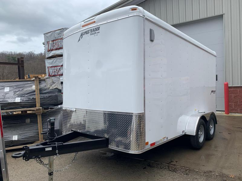2020 Homesteader 7'X14' Flat Nose Trailer Enclosed Cargo Trailer