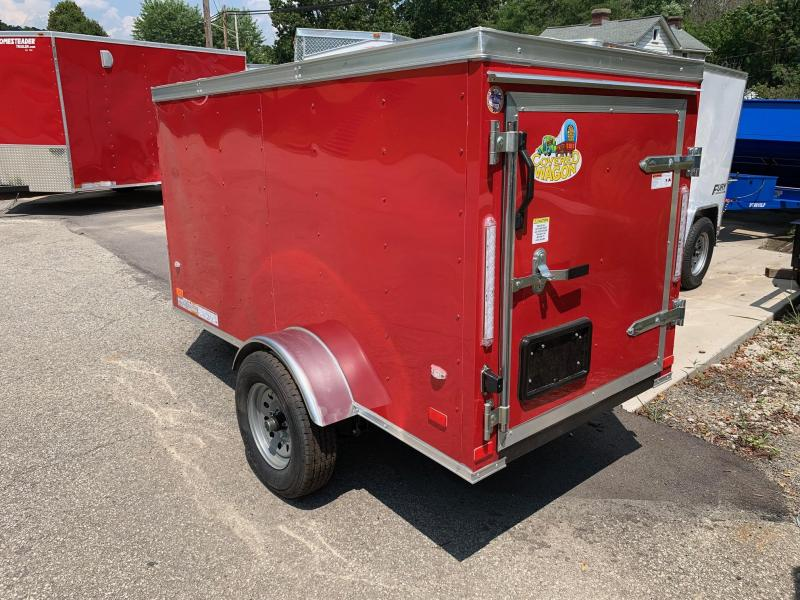 2019 Covered Wagon Trailer 4X8 V Nose Trailer Enclosed Cargo Trailer