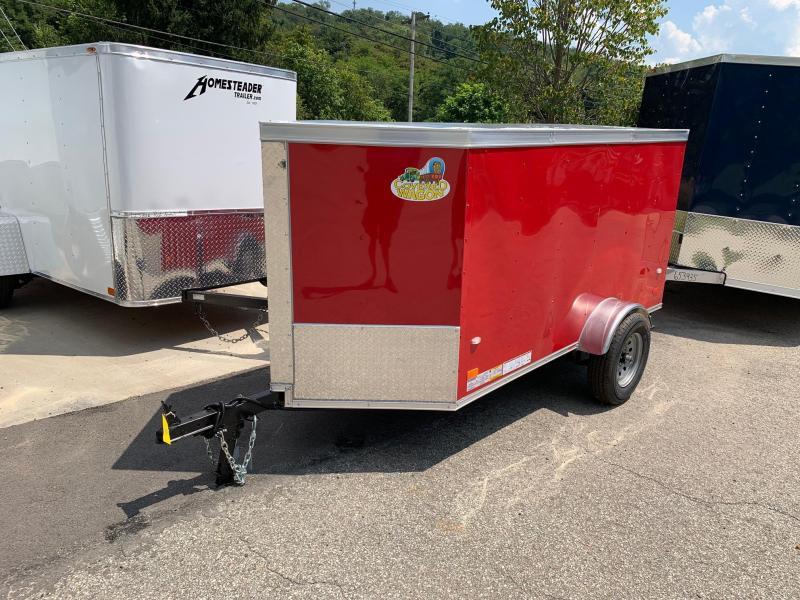 2019 Covered Wagon Trailer 4X8 V Nose Trailer Enclosed Cargo Trailer
