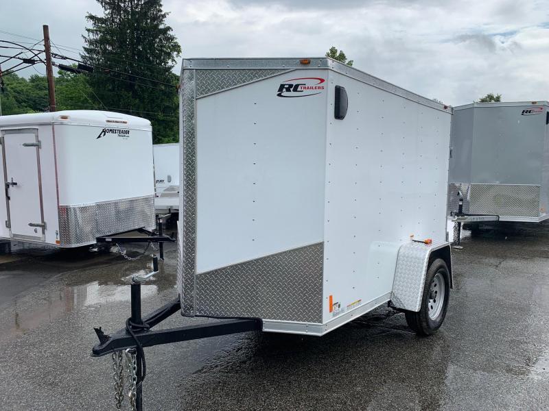 2019 RC Trailer 5X8 V Nose Trailer Enclosed Cargo Trailer
